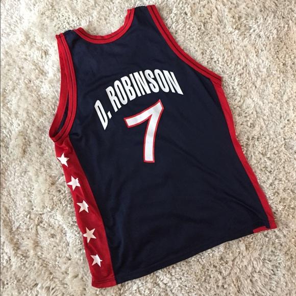 best service 30730 2ffcd Champion David Robinson NBA USA Jersey Spurs Dream
